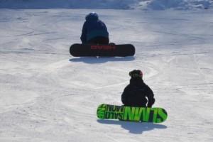 スノーボード・休憩