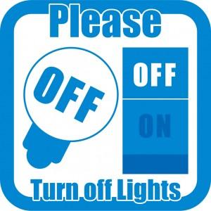 電気代の節約標識