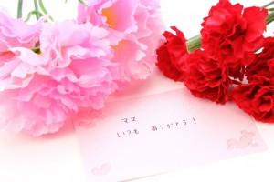 母の日のプレゼントの手紙とカーネーション